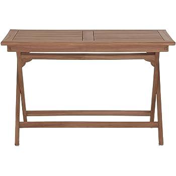 Gartentisch holz massiv  Amazon.de: Gartentisch Holz Massiv klappbar rechteckig Teakholz ...