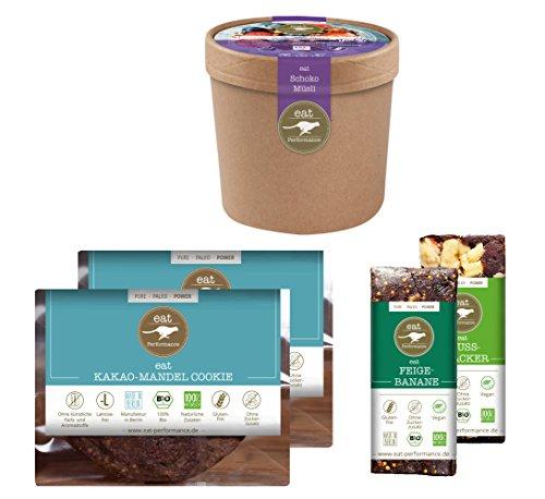 CHOCOHOLIC BOX (495g) von eat Performance (Bio, Paleo, Schokolade ohne Zuckerzusätze, Geschenk-Set, glutenfrei, laktosefrei, superfood)
