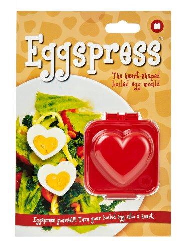 MUSTARD Eggspress-Heart-Eierform in Herzform, Kunststoff, Rot, 4 x 8 x 7 cm