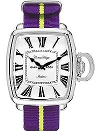 Glam Rock Men's Vintage Two Tone Nylon Band Steel Case Quartz Watch GR28084F