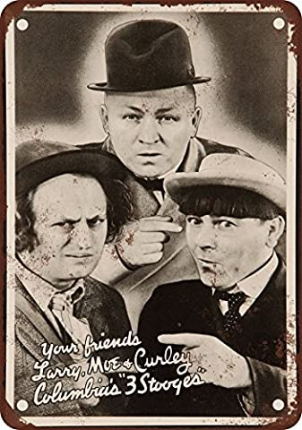 1936 Three Stooges Vintage Look Reproduction Metal Signs 12X16 Inches
