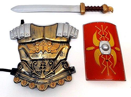 Brigamo 562 - Römischer Legionär Spiel Set für Kinder inkl. Brustpanzer, Schild und Gladio Schwert