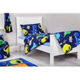 Cotbed Size Junior Duvet Cover Set Dinosaurs In the Dark with Pillowcase
