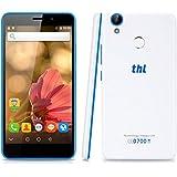 THL T9 PRO - 4G/3G/2G Smartphone Android 6.0 Pantalla 5.5'' IPS, MT6737 64bit 1.3GHz Quad-Core, 2G Ram, 16G Rom, Doble sim tarjetas y doble cameras, 360°Huella digital (Blanco)