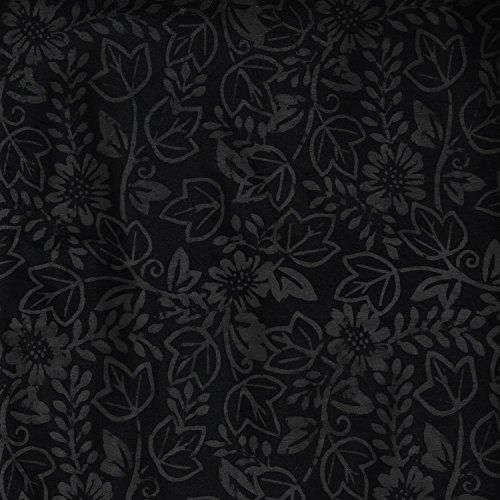 Fabric Freedom Grau Sommer mit 100% Baumwolle, Batik Bali gebatikt Muster, Stoff für Patchwork- und Quilt- und Bastelarbeiten (Preis pro Viertel-Meter) -