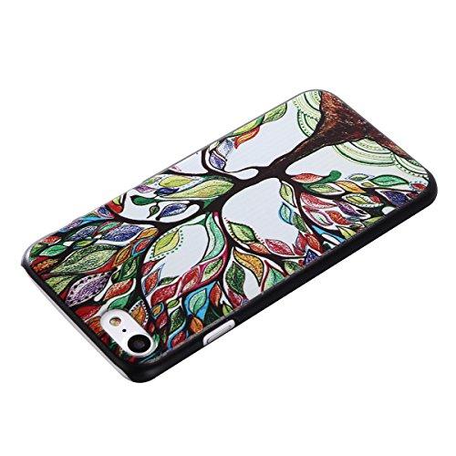 MOONCASE iPhone 7 Plus Coque, Slim Fit Hardshell Back Coque Etui Case Cover pour iPhone 7 Plus [pissenlit] Arbres