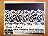 1933 : Anzeige: ZEISS IKON / PERNOX-FILM - Format: ca. 140 x 105 mm - alte Werbung /Originalwerbung/ Printwerbung /Anzeigenwerbung