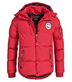 Geographical Norway Herren Winter Steppjacke Parka Verveine Kapuze red S