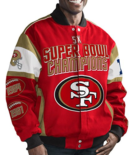 San Francisco 49ers NFL G-III Super Bowl Cotton Twill Commemorative Jacket (Bowl Super G-iii)