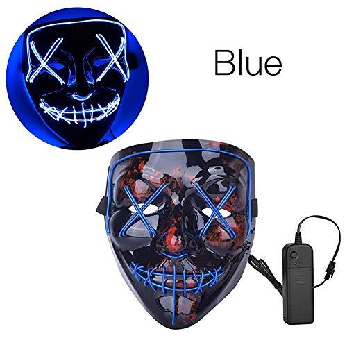 Gruselig Coole Kostüm - Lancei Halloween LED-Leuchtmaske Gruselige Maske EL Wire Cooles Kostüm Festivalpartys Halloween-Maske für Weihnachtsfestpartys