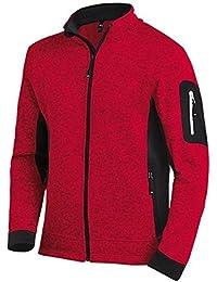 FHB Strickfleece Jacke atmungsaktiv, Farbe:rot;Größe:M