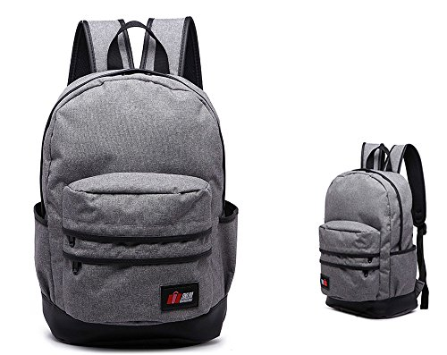FREEMASTER Rucksack Canvas 24L Laptop 14 Daypacks Damen Herren 40*18*33 CM A4 Schultasche for teenager girl Rucksäcke Bag (Grau) (Jansport Laptop 17 Rucksack)