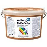 Pufas fix 2000 Volltonfarbe + Abtönfarbe 2,5 L Innen + Außen-Farbe Fassadenfarbe 923 Terrakotta