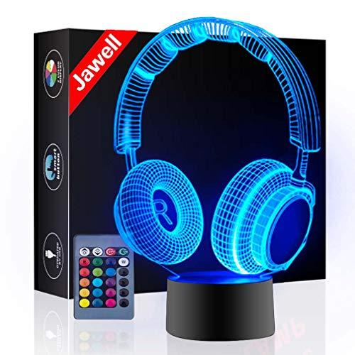 Lámpara nocturna decorativa con ilusión 3D de la marca Jawell con botón Smart Touch para oficinas u hogares