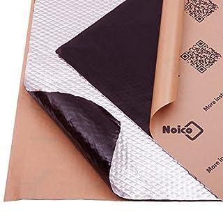 Noico 2 mm 0.95 qm Selbstklebende Alubutyl Anti Dröhn Dämmmatte, Auto Dämmung (Lärmschutz, Schalldämmung und Schallschutz für Kfz)