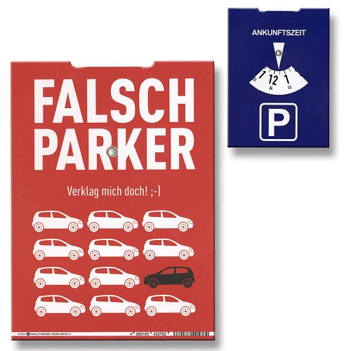 Preisvergleich Produktbild Parkscheibe Falsch Parker Verklag mich doch! ;-)
