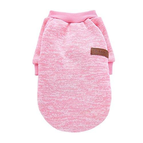 Kingnew Pet Fleece Kleidung Mantel Jacke Pullover weichen Wärmer für kleine Hund Chihuahua Yorkie Spielzeug (Pink, S)