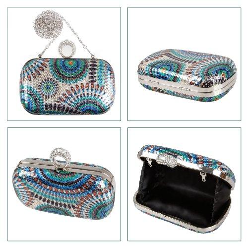BMC - Borsetta clutch con paillettes e anello con brillantini - Diversi modelli Ragazza selvaggia