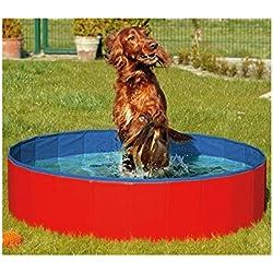 FurryFriends Piscina plegable para perro, bañera plegable para perro/gato – Spa plegable para mascotas – grande (50 x 12 pulgadas) o (127 cm x 31 cm)