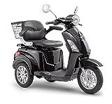 Elektroroller LuXXon E3800 - Elektro Dreirad für Senioren mit 800 Watt, max. 20 km/h, Reichweite bis zu 60 km, schwarz