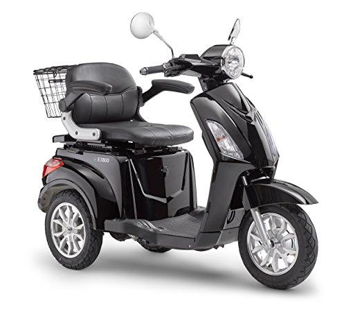 Elektroroller LuXXon E3800 – Elektro Dreirad für Senioren mit 800 Watt, max. 20 km/h, Reichweite bis zu 60 km, schwarz