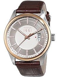 Cerruti 1881 señores-reloj analógico de cuarzo cuero PALINURO CRA127STR20BR