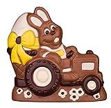 Schokoladen Osterhase auf Traktor, 150g