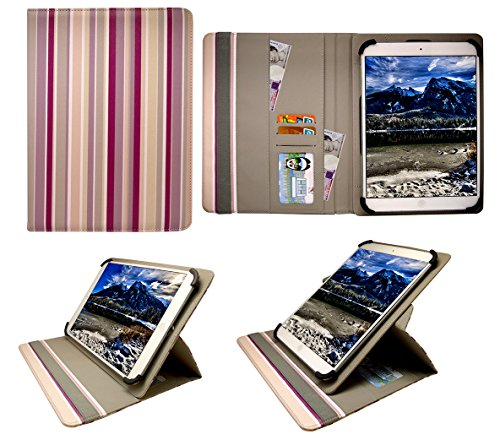 Sweet Tech Blaupunkt Endeavour 1010 Tablet 9.7 Inch Vertikale Streifen Universal 360 Grad Wallet Schutzhülle Folio mit Kartensteckplätzen (9-10 Zoll