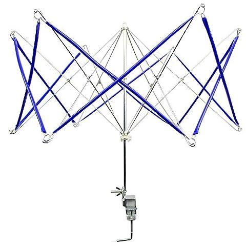 Metall Garn Wickler schnell manuelle Wolle Garn Ball Wickler Halter tragbaren Hand betriebenen Stricken Regenschirm von yunhigh - blau