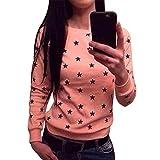 MIOIM® Studenten Mädchen Pullover Rundhals Langarm Sternchen Hoodie Sweatshirt Pulli Sweater Damenpullover