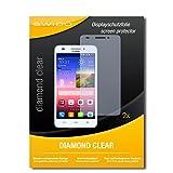 2 x SWIDO® Bildschirmschutzfolie Huawei Ascend G620s Schutzfolie Folie