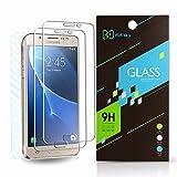 [ 3 Pack ] Vetro Temperato Samsung Galaxy J5 2016 , Didisky 2 Pack Pellicola Protettiva in Vetro Temperato 9H 0.3MM Per Samsung Galaxy J5 2016 + 1 Pack Pelle in fibra di carbonio protezione per Indietro DSKY70103