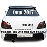 Oma 2016 2017 2018 .. Autotattoo Heckscheibe Aufkleber Größe: Größe 1