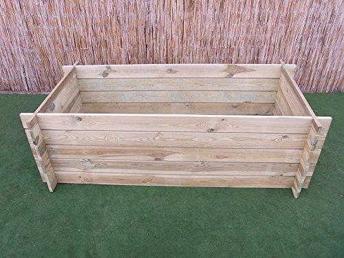 BIHL – Stabiler Holzkomposter Komposter Kompostbehälter Hochbeet 170 x 85 x 52 cm