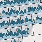 creatisto Fliesenmosaik Fliesenfolie Dekoaufkleber für Fliesen | Folie Sticker Aufkleber Badezimmer Deko Wand-Fliesen renovieren Küche | 10x10 cm - Motiv Bergoboter - 54 Stück