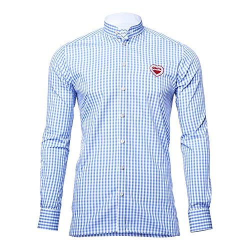 GaudiHerz - Trachtenhemd - in hellblau (L)