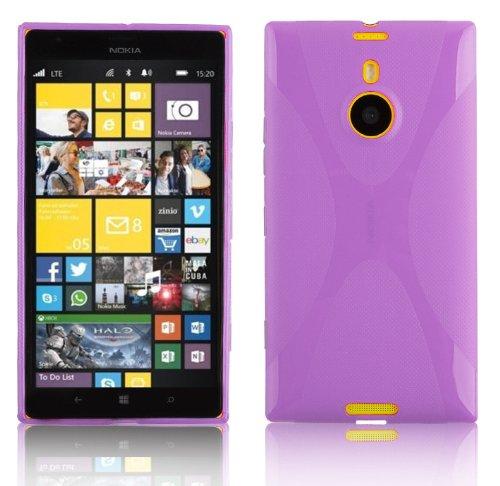 Preisvergleich Produktbild Cadorabo Hülle für Nokia Lumia 1520 - Hülle in FLIEDER VIOLETT – Handyhülle aus flexiblem TPU Silikon im X-Line Design - Silikonhülle Schutzhülle Soft Back Cover Case Bumper