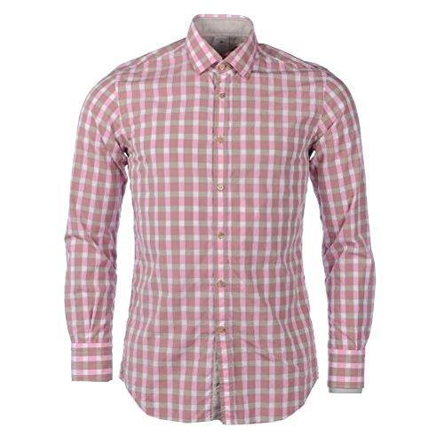 Delsiena -  camicia casual  - uomo pink & brown