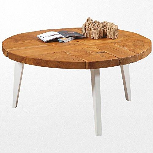 Atypik Home Table Basse en Bois Moderne et Ses Pieds en Fer