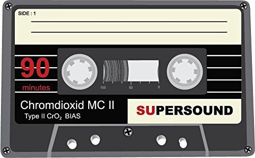 Audio Cassette Supersound Alta Calidad De Coche De Parachoques Etiqueta Engomada 12 x 10 cm