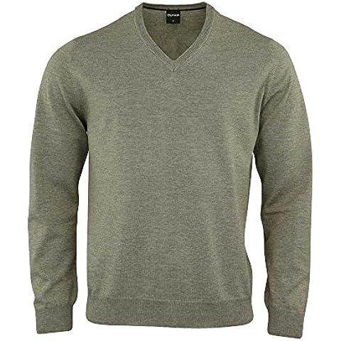 OLYMP V-taglio lana merino nero con zip e cappuccio