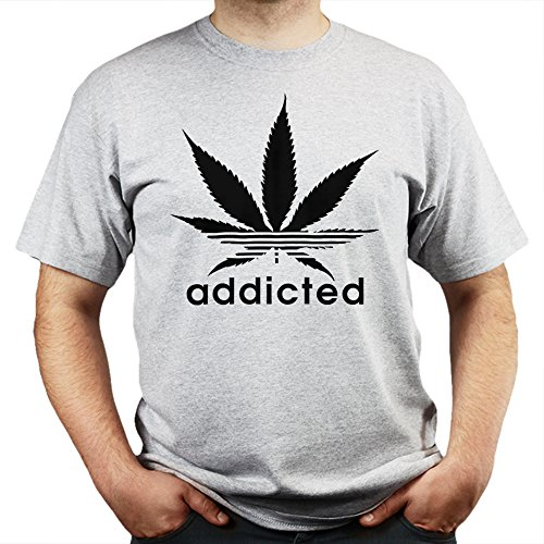 Addicted Cannabis Sativa Legalise Dope Sports T-shirt Grau