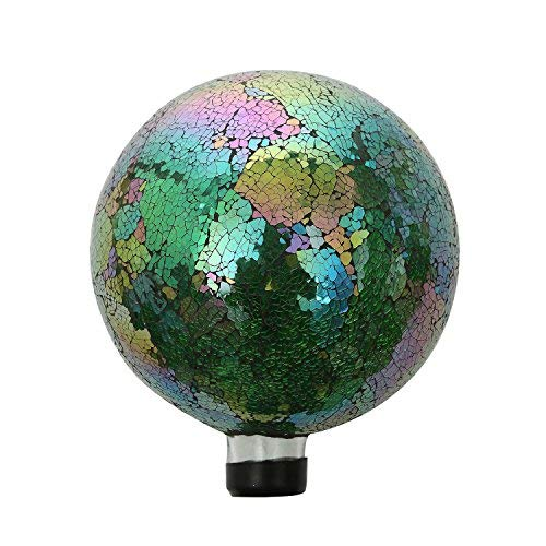 Gazing Ball (Mosaik bunt Glas Gazing Ball 25,4cm blau)