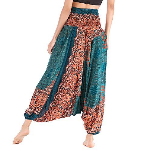 OIKAY afrikanische Kleidung yogahose Turban Damen Frauen Casual Sommer lose Yoga Hose Baggy Boho Aladdin Overall Harem Hosen orientalisch