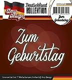 Stanzschablone - Amy Design -Text Deutsch- Zum Geburtstag