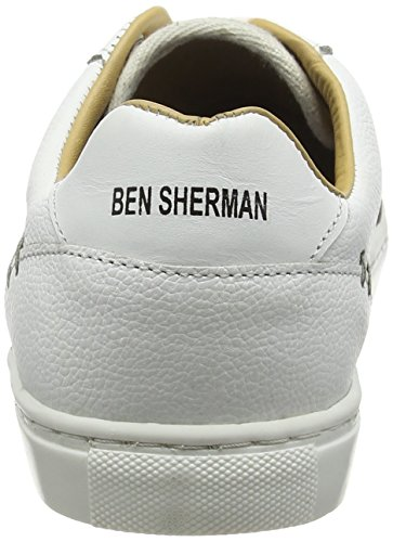 Ben Sherman Herren Tredegar Low-top Weiß (bianco Sporco)