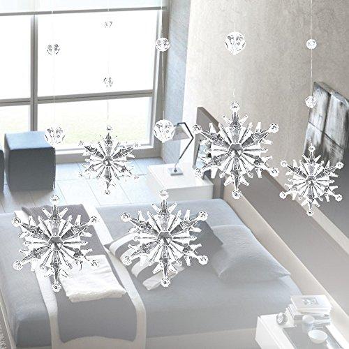 Cortina De Cristal,Acrílico Cristal Copo De Nieve Cortina De Perlas