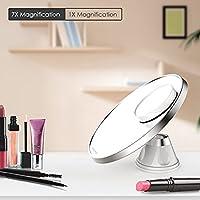 Spaire Miroir de maquillage grossissement 7x et 1x pour rasage avec ventouse de fixation pivotante à 360degrés pour la beauté et les soins de la peau
