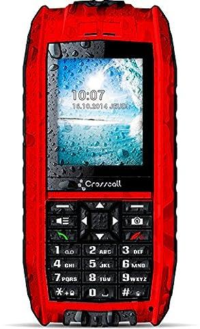 CROSSCALL - SHARK V2 Téléphone mobile étanche et flottant – Rouge