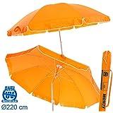 Sombrilla plegable naranja Garden de aluminio para playa de 220 cm. - Lola Derek